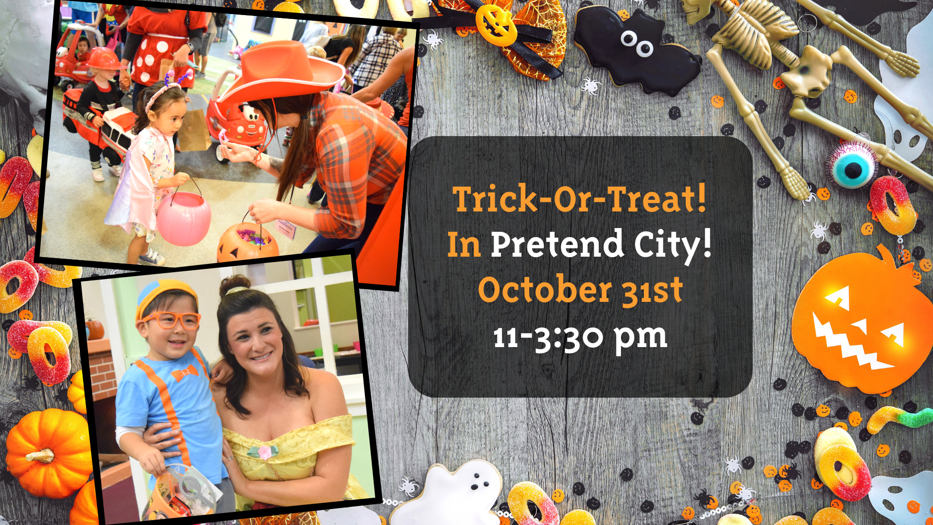 Pretend City is hosting a special Halloween event for Halloween 2020. Trick-or-Treat extravaganza will be fun for toddlers, children and families.